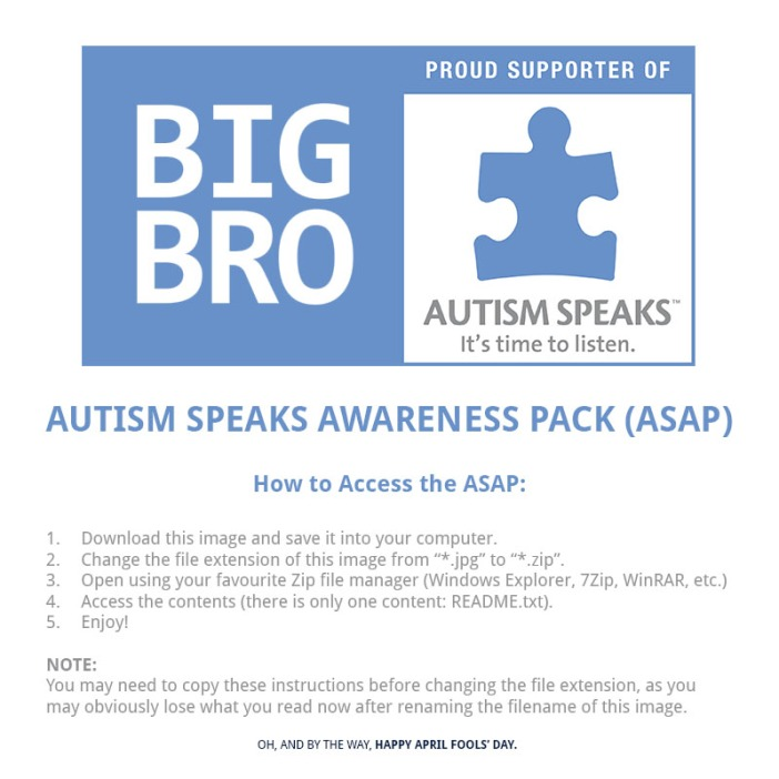 Autism Speaks Awareness Pack (ASAP)