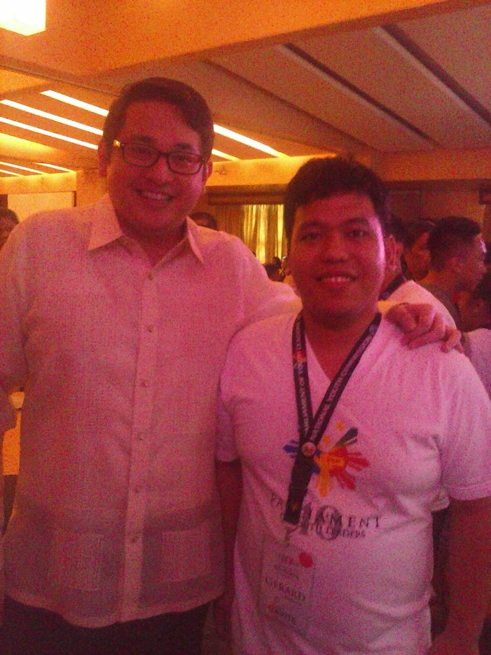 Senator Bam Aquino and me during the 10th NYP